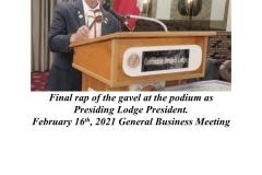 Final Wrap of the Gavel - President Carmine E.  Soldano