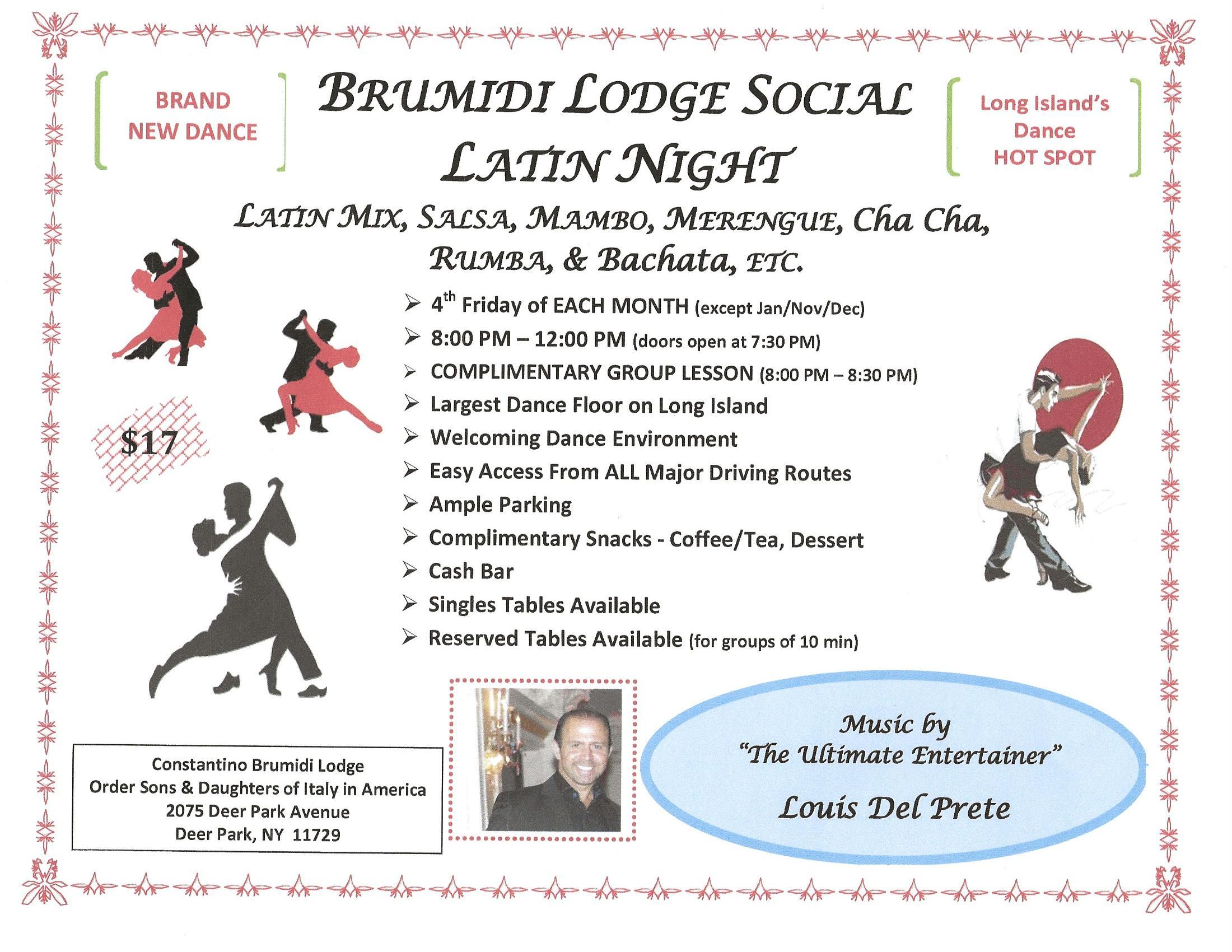 Brumidi Lodge Social – Latin Night