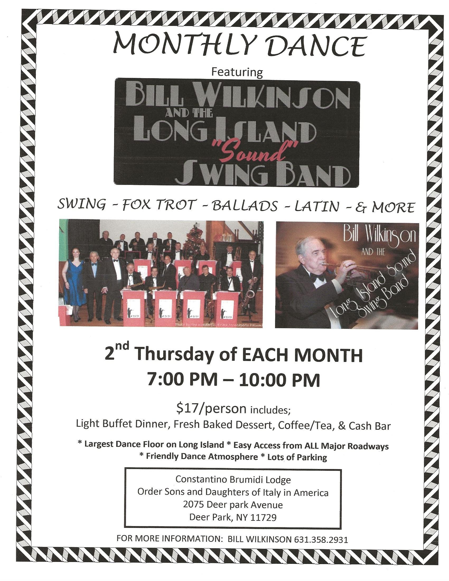 Bill Wilkinson Band Swing Flyer