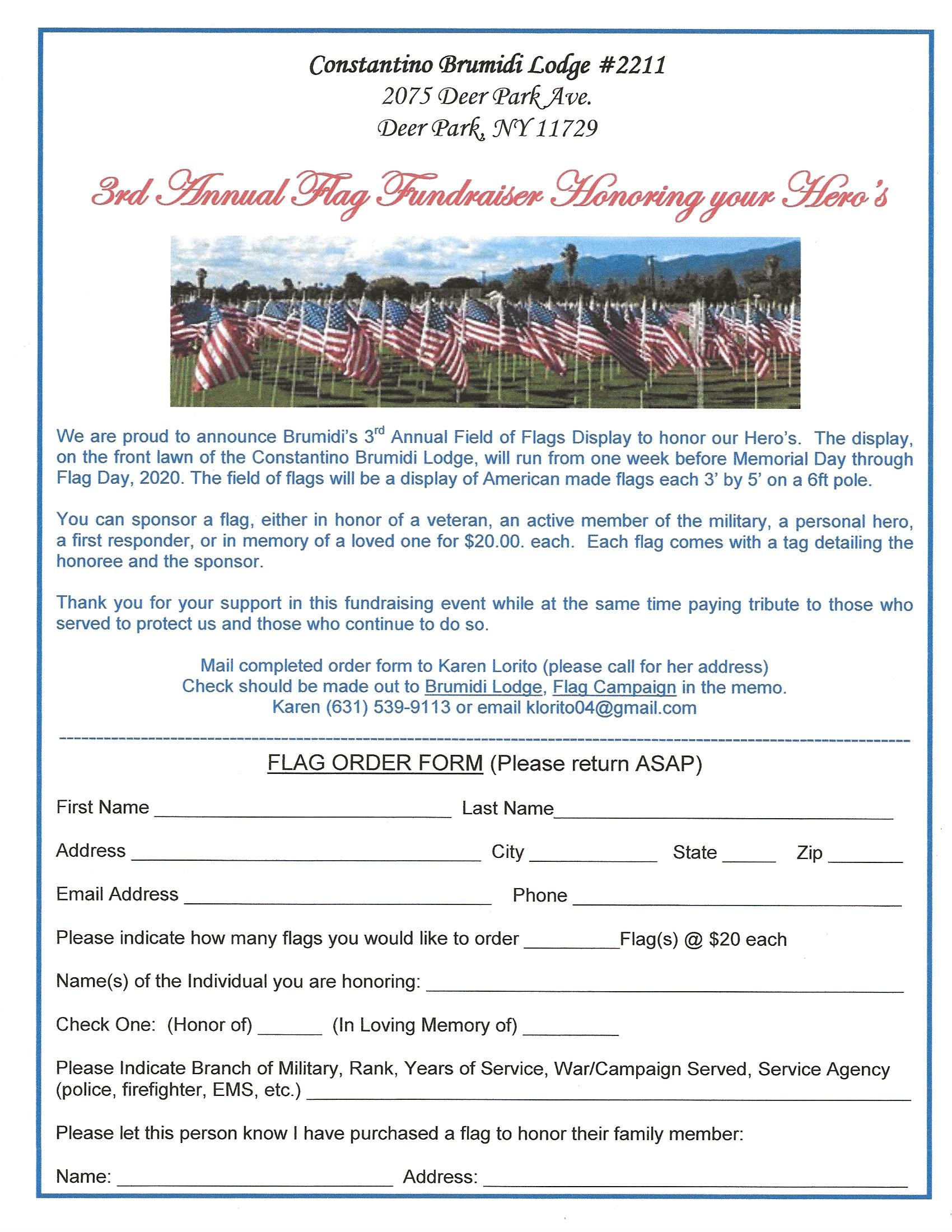 Memorial Day Flag Field Tribute 2020