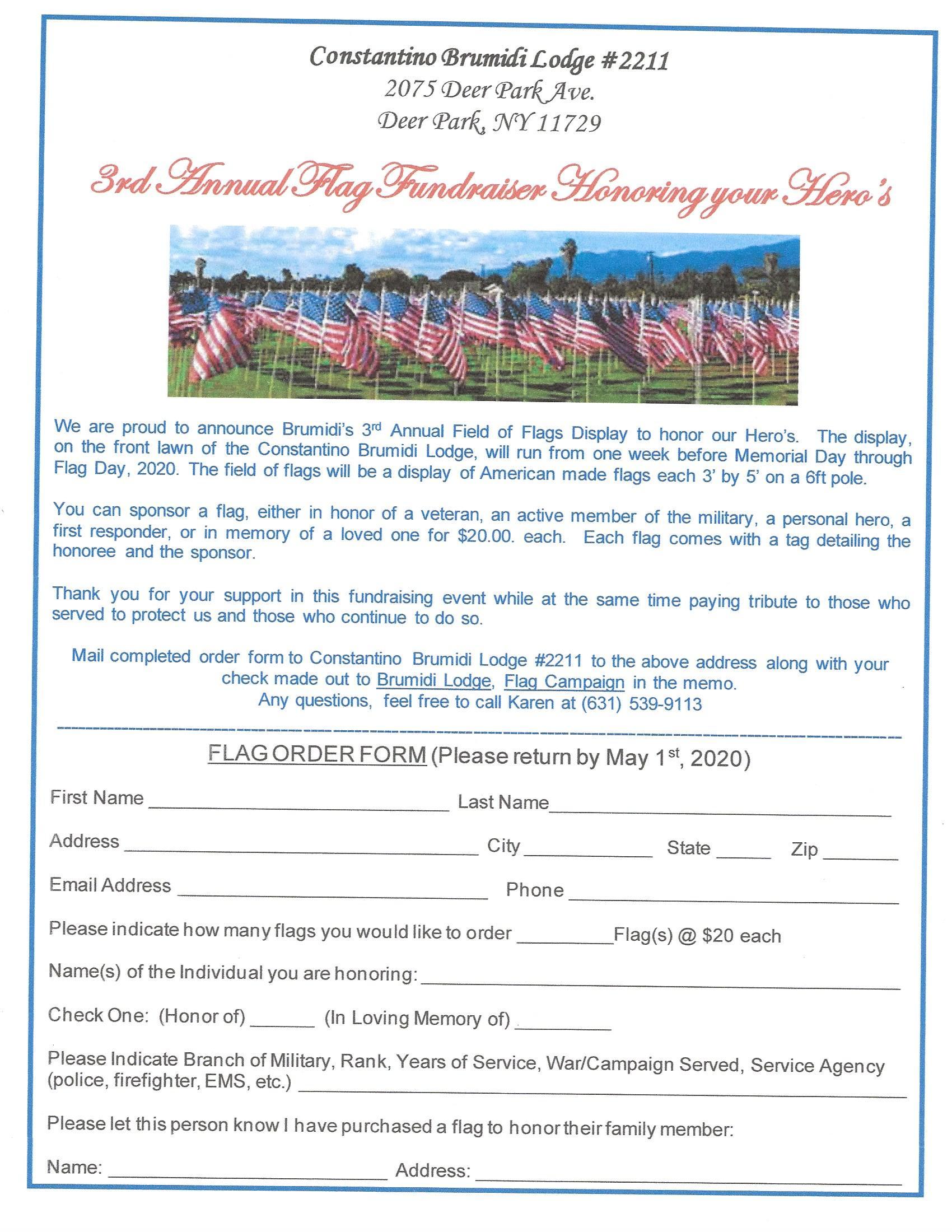 Memorial Day Flag Tribute