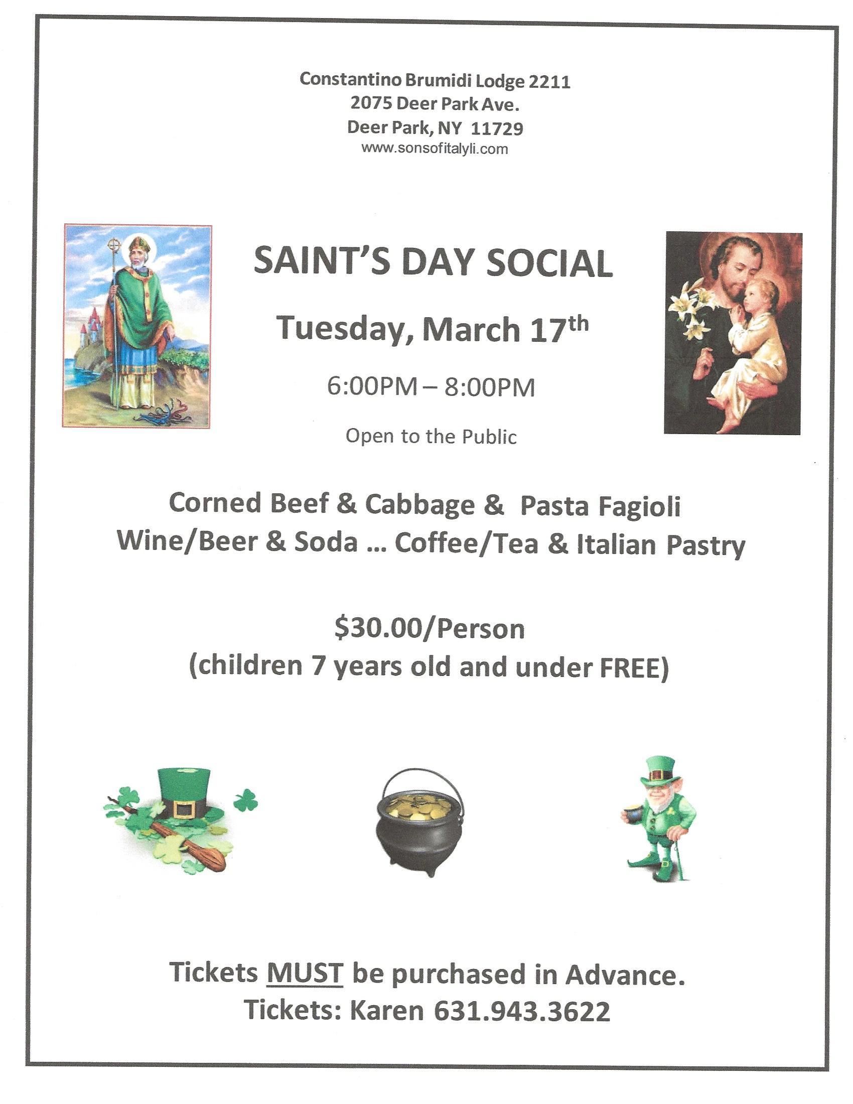 Saints Day Social 2020