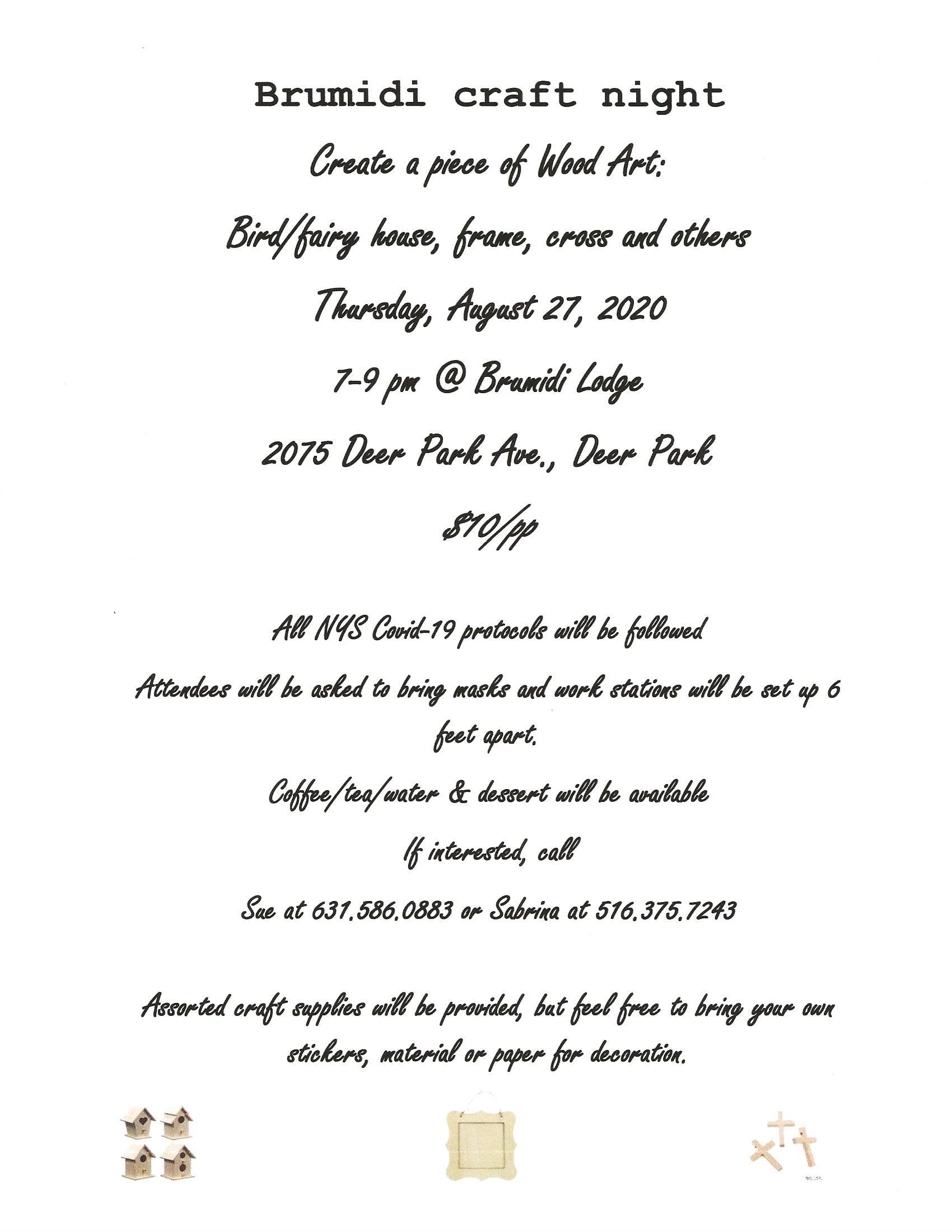 Craft Night Aug 2020