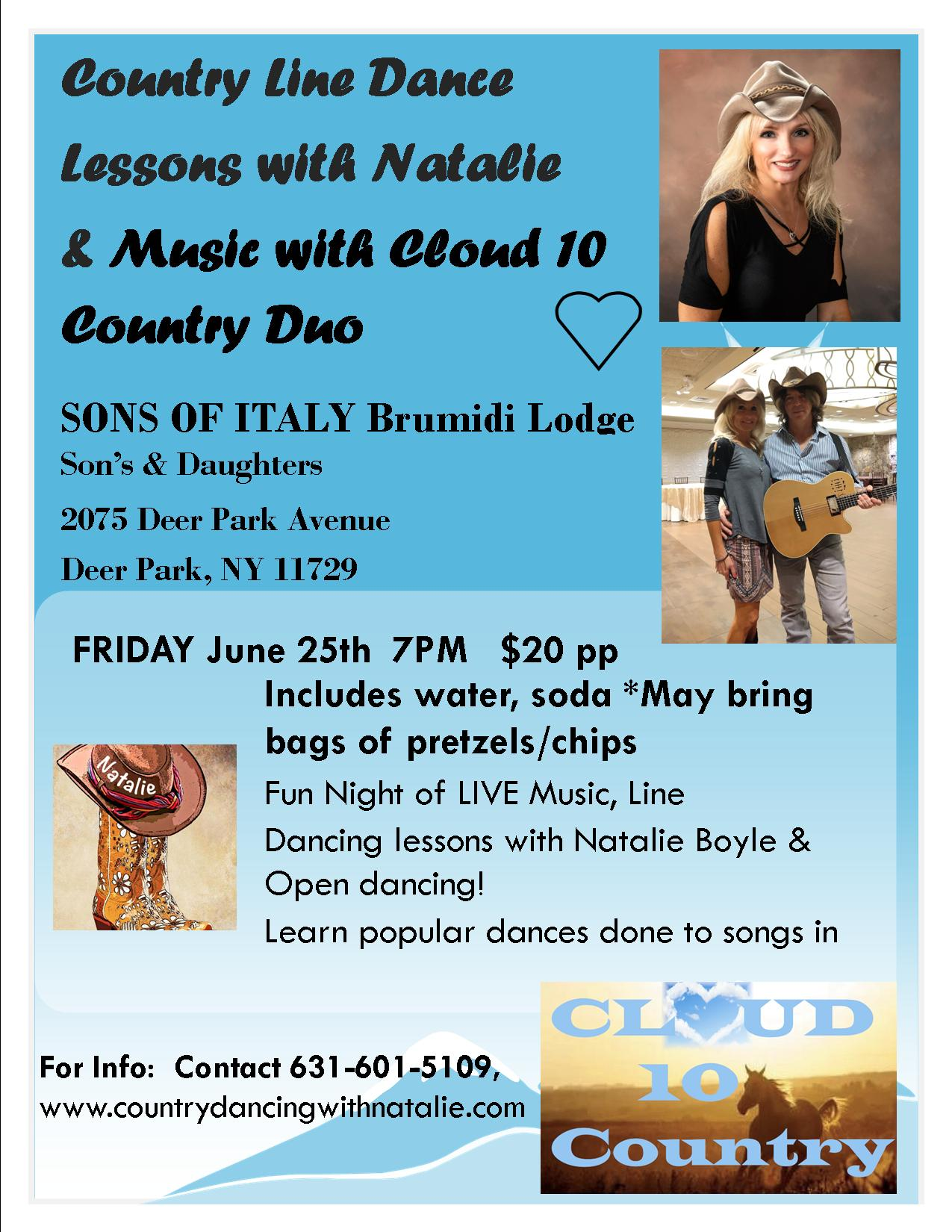 Country Line Dancing with Natalie June 25 2021