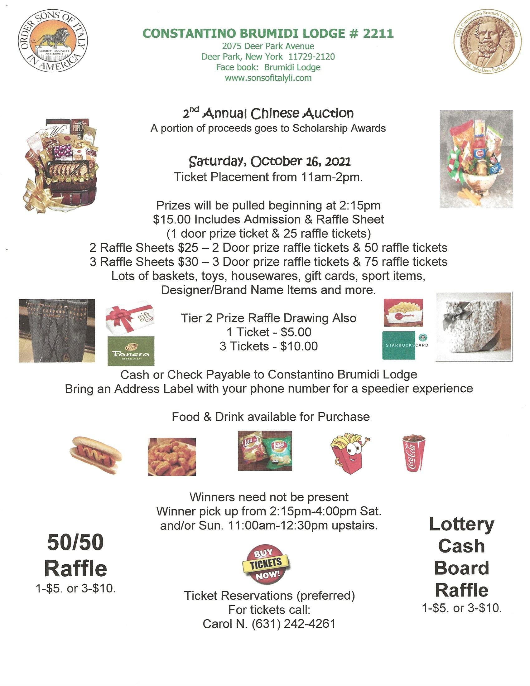 Chinese Auction 2021 Flyer
