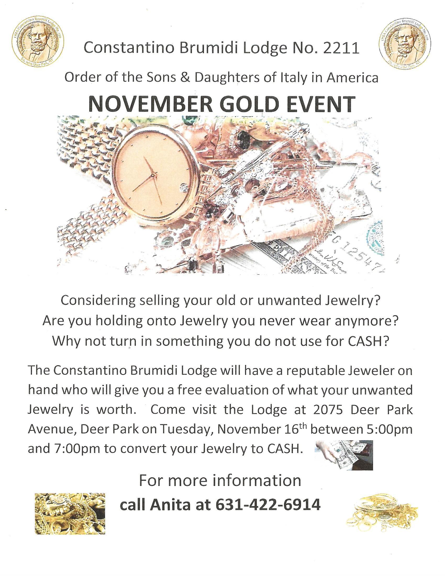 Gold Event November 2021